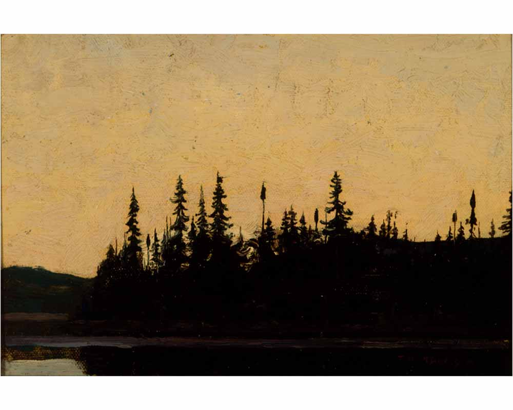 Sunset, Canoe Lake, Fall 1913