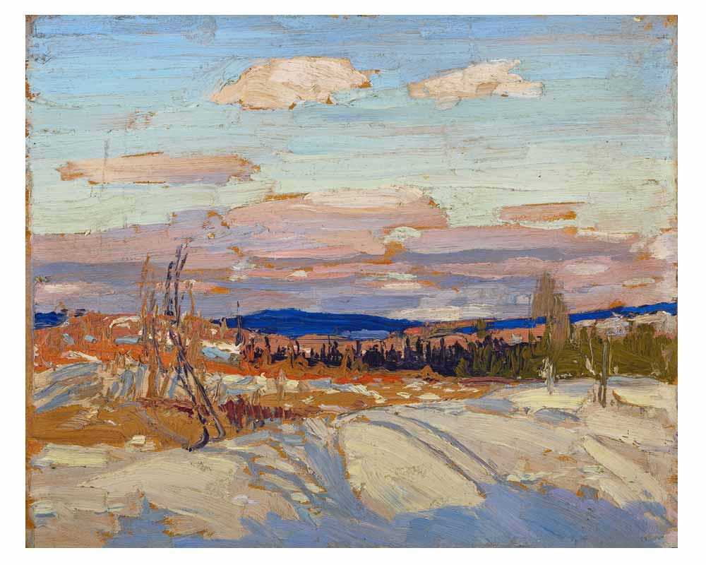 "Winter: Sketch for ""In Algonquin Park"", Fall 1914"