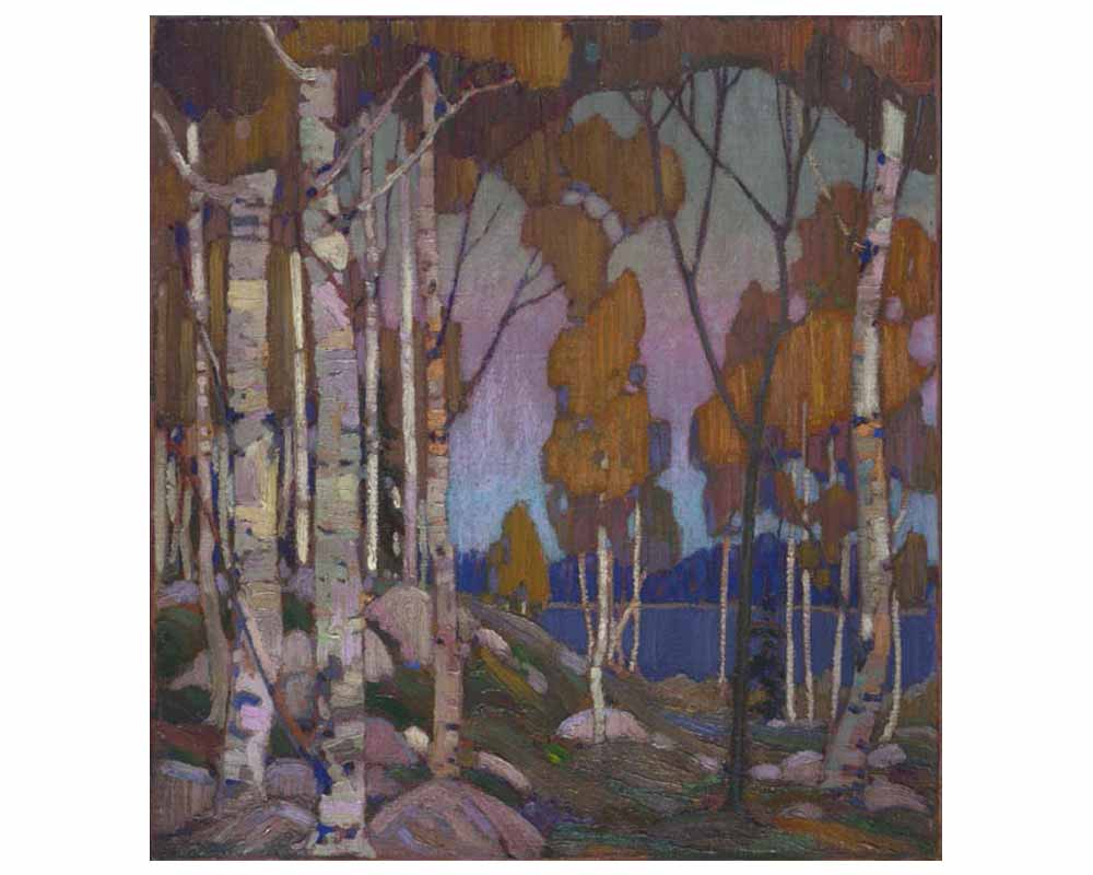 Decorative Landscape, Birches, Winter 1915–16