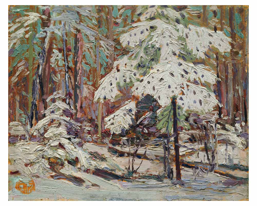 Snow in the Woods, Fall 1916