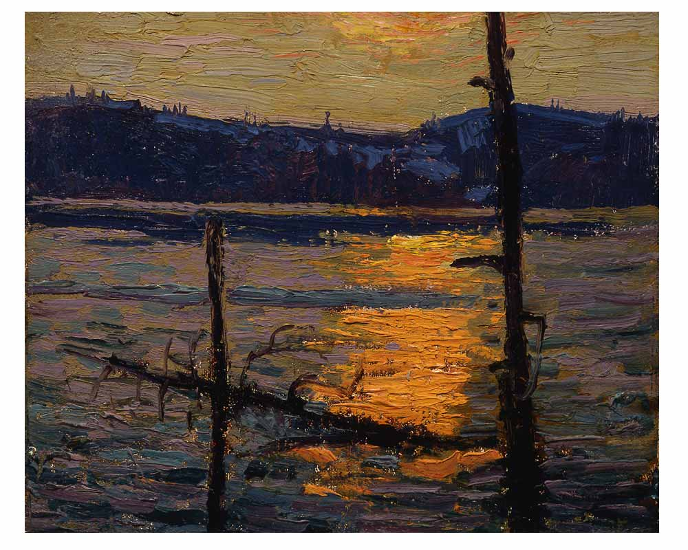 Sunset, Canoe Lake, Spring 1916
