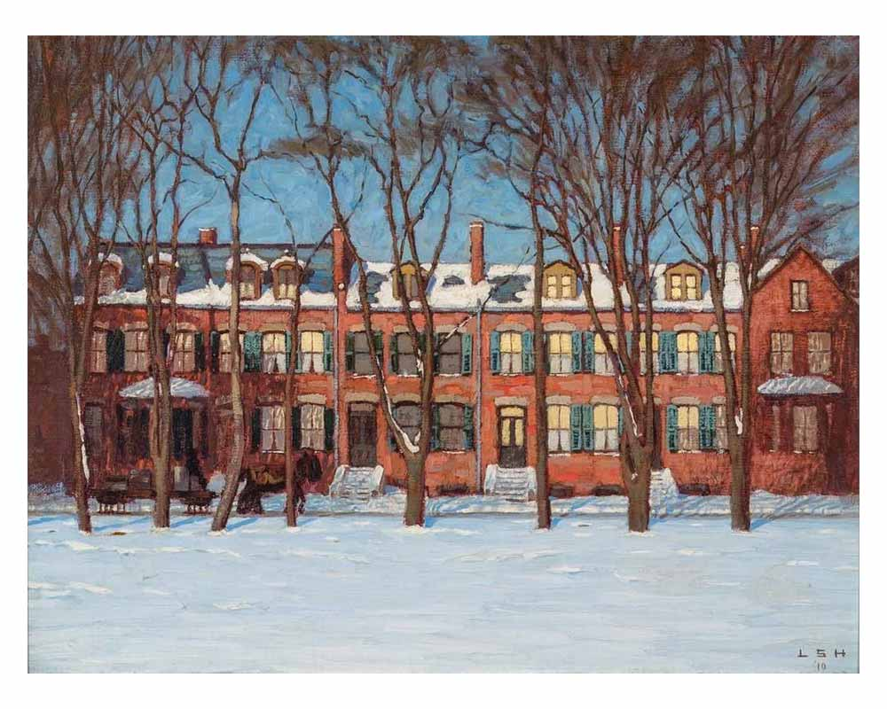 Houses on Wellington Street, 1910