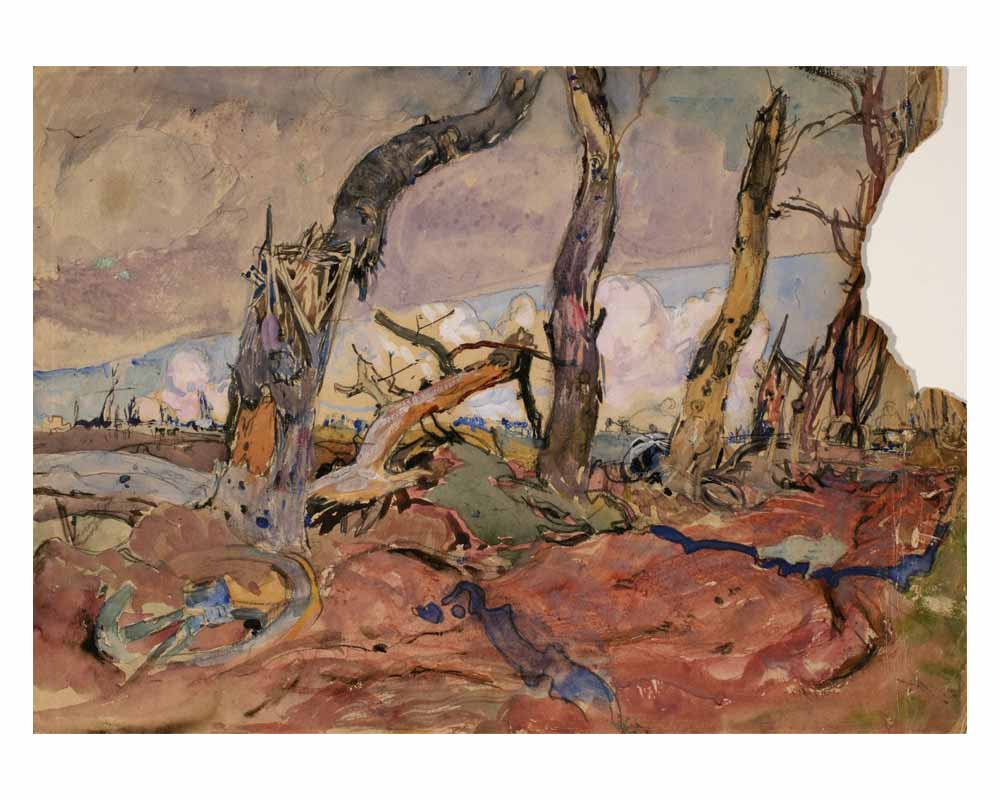 Shell-torn Trees, 1919