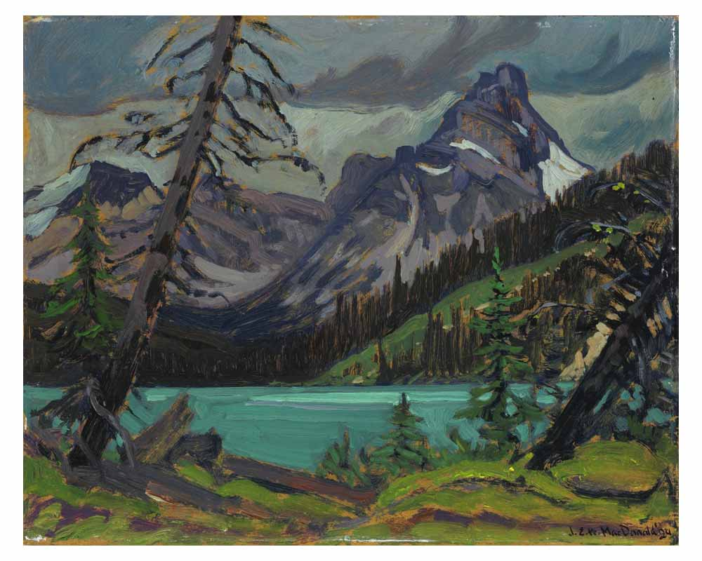 Cathedral Peak from Lake O'Hara, 1924